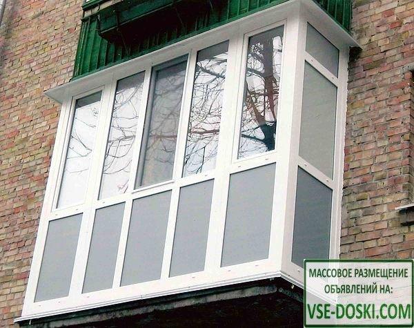 Остекление, обшивка, изготовление, монтаж балконов. лоджий любой сложности и цвета