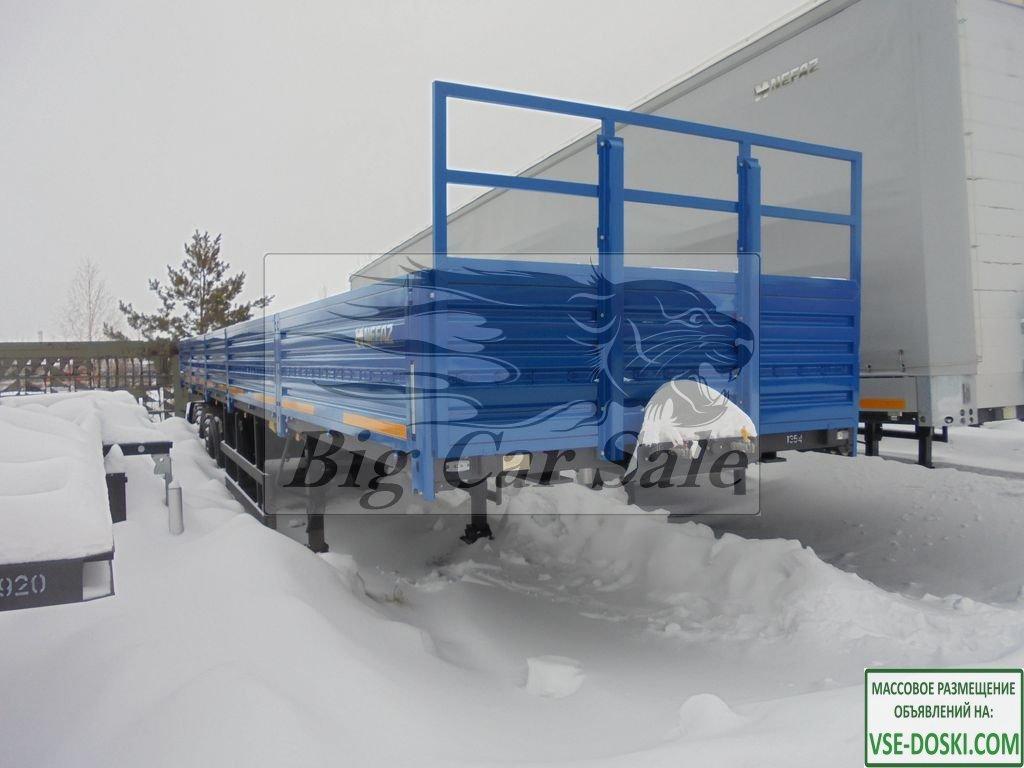 Бортовой полуприцеп НЕФАЗ 93341-0312150-07 повышенной проходимости (вездеход)