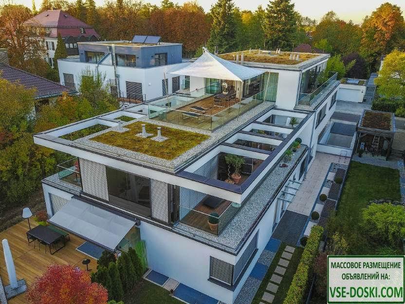 Роскошный дуплекс-пентхаус, с террасой на крыше, в Мюнхене.
