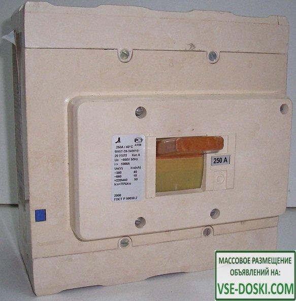 Выключатель автоматический ВА5135,5237,5735,5739,ВА08 до 800А.