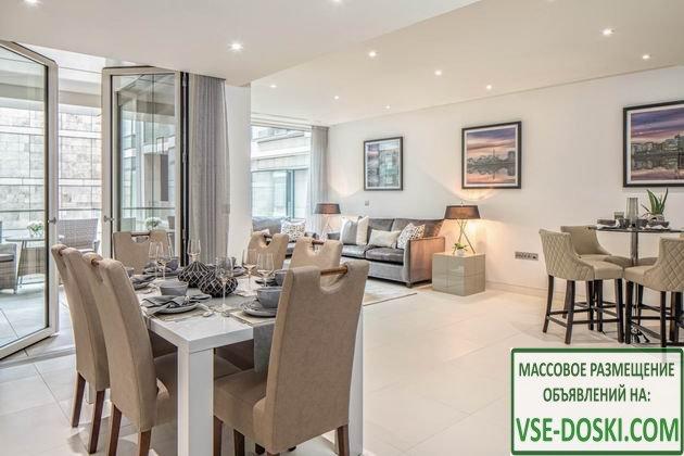 Квартира, в доме на берегу Темзы, в Лондоне.