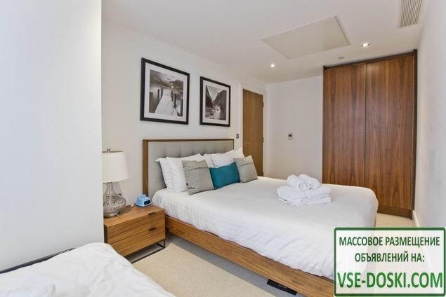 Квартира с одной спальней, в новом доме, в Лондоне.