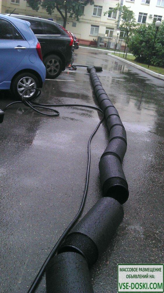 Бестраншейная замена труб канализации, выпуски, проколы под дорогой,