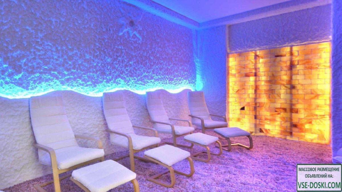 Отделка помещений под соляные пещеры, соляные комнаты под ключ. +79854146973