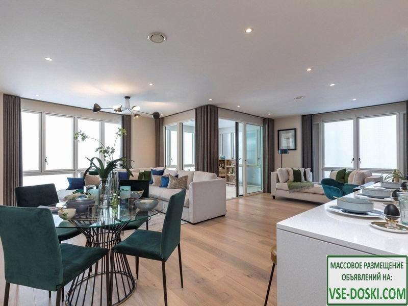 Квартиры в новом жилом комплексе, в Лондоне.