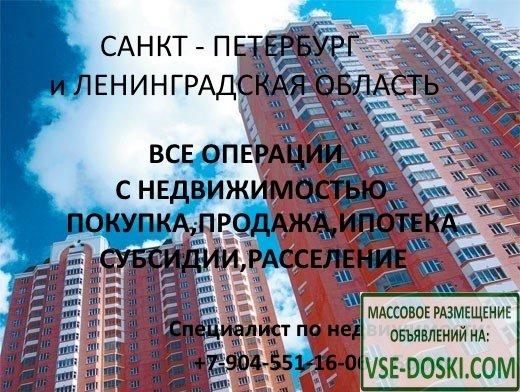 Услуги в сфере недвижимости в Санкт-Петербурге и Ленинградской области