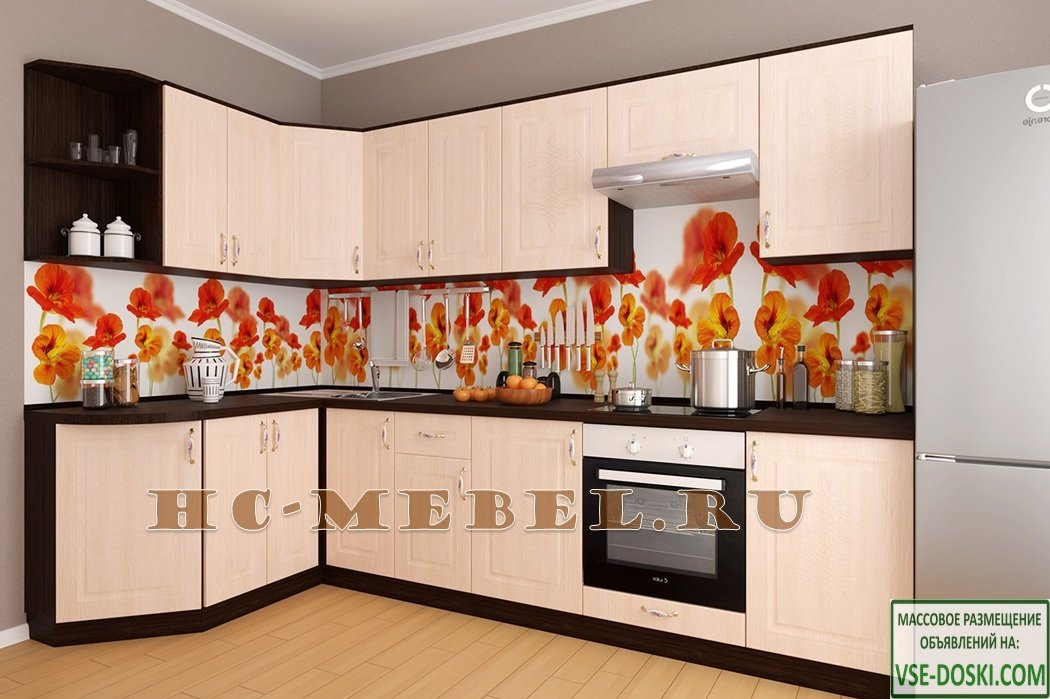Кухня БЕЛАРУСЬ-9.9.7 угловая модульная, правая-левая