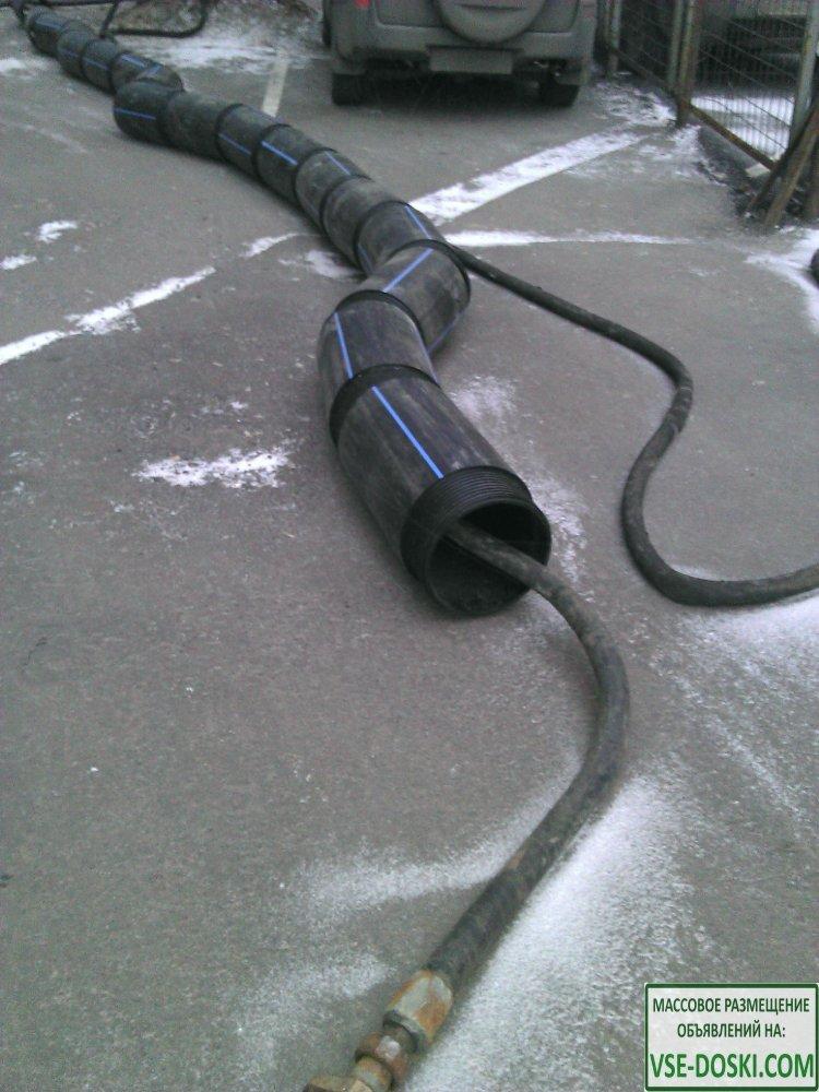 Бестраншейная замена канализации, водостоков, ремонт выпусков