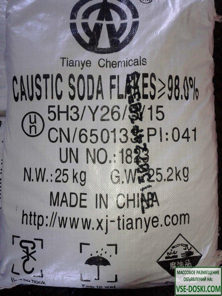 Каустическая сода чешуированная, меш. 25 кг
