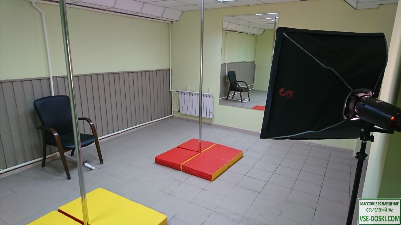 Почасовая аренда зала с пилонами pole dance