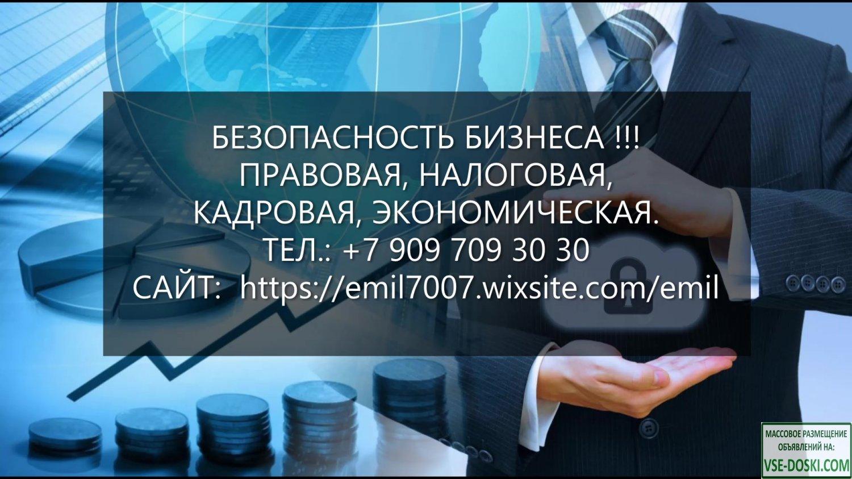 Безопасность бизнеса, профилактика рисков, работа с ФНС, МВД, СК