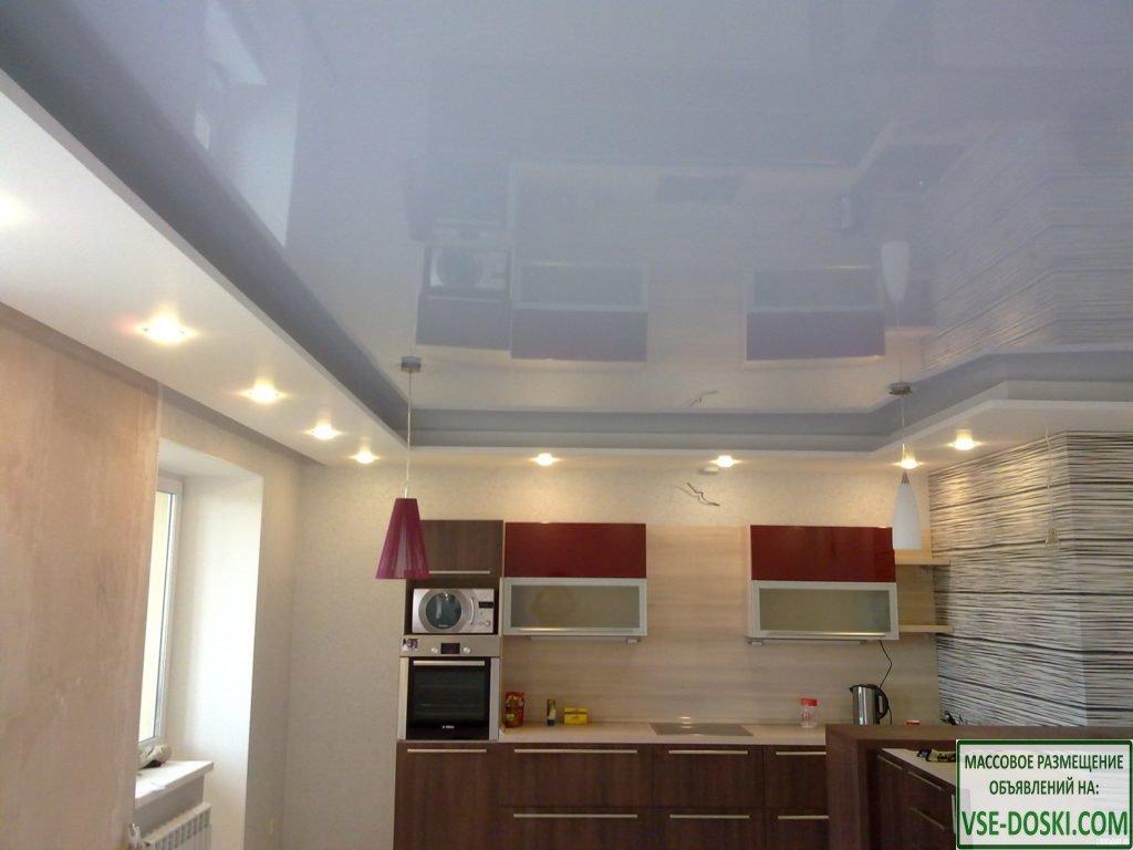 Натяжной потолок. `Парящий` потолок. Подсветка гардин, штор http://rusboard.net  Подробнее