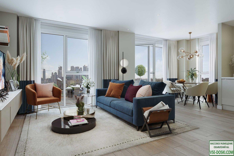 Новые квартиры для проживания и инвестиций, в Лондоне (Canary Wharf).
