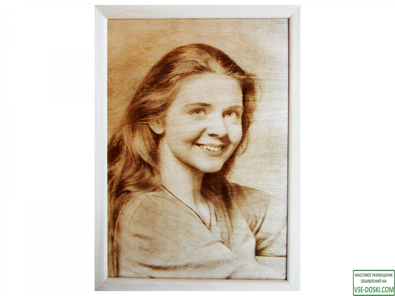 Портреты и картины выжженные на дереве по фотографии