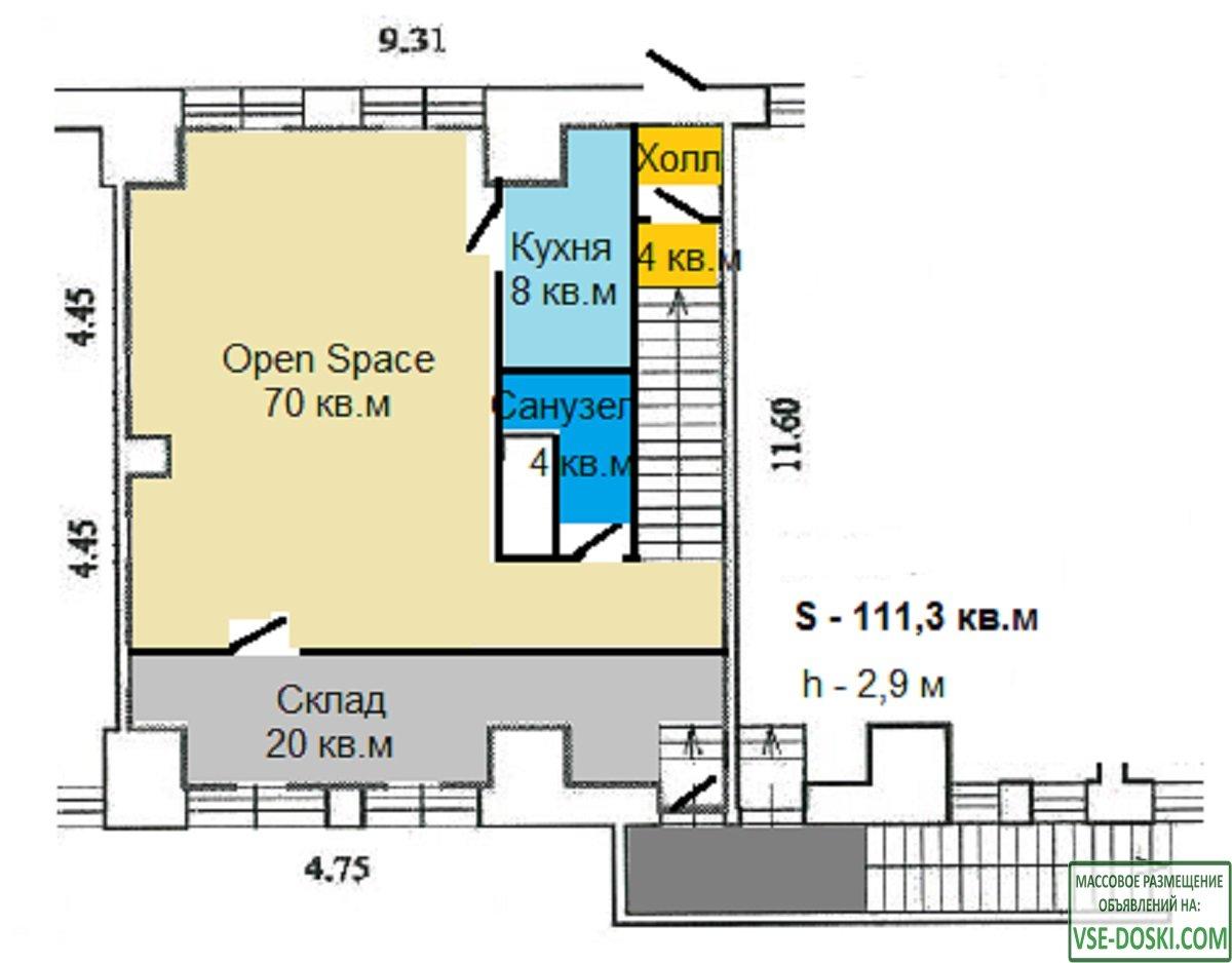 111 кв.м, 2 входа, первая линия, под любой вид деятельности, торгово-офисный центр - 10/10