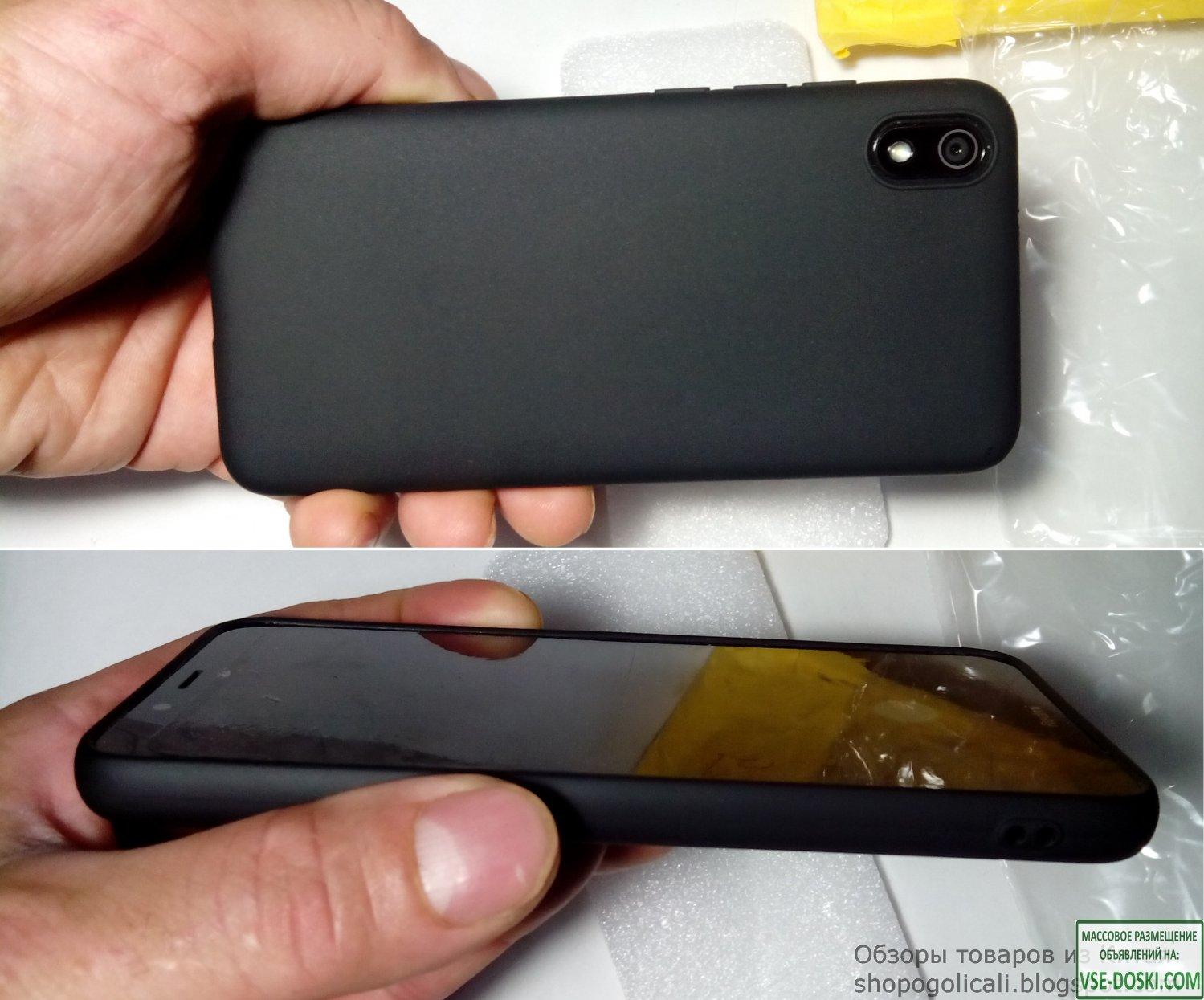Силиконовый чехол для Xiaomi Redmi 7A черный