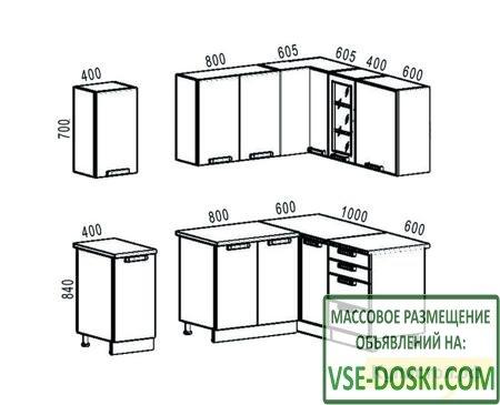 Кухонный гарнитур Боровичи Классика угловая 1600х1800 мм
