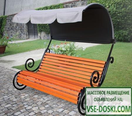 Скамейка с тентом Koncept Garden «Ажур» СА-5 с тентом
