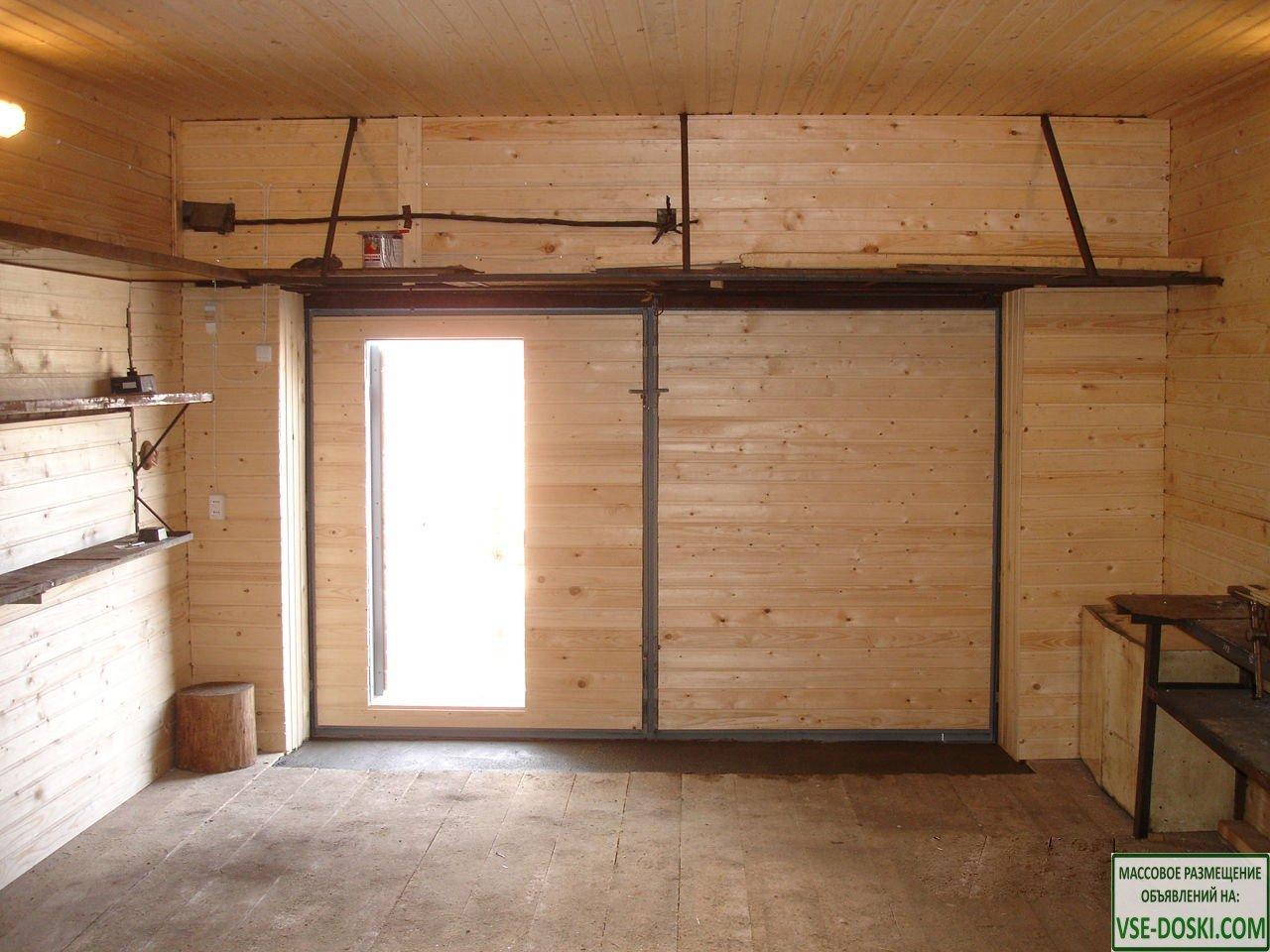 Ремонт гаража,  подрезка ворот, замена петель, отделка вагонкой