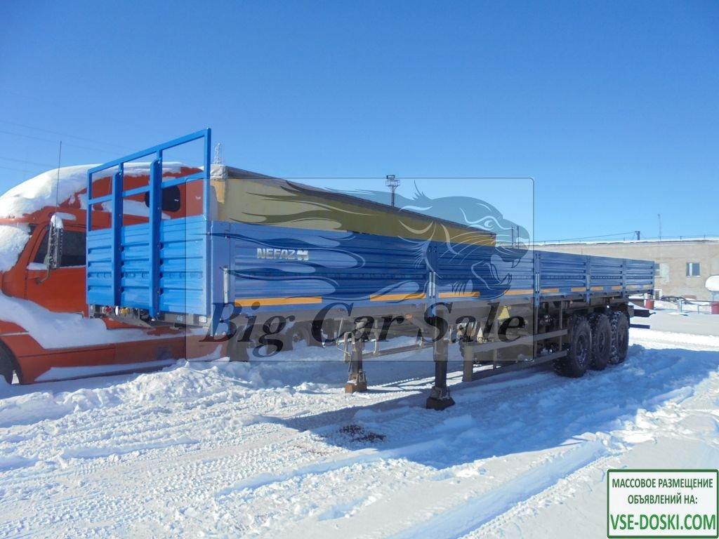 Бортовой полуприцеп НЕФАЗ 93341-0012150-07 повышенной проходимости (вездеход)