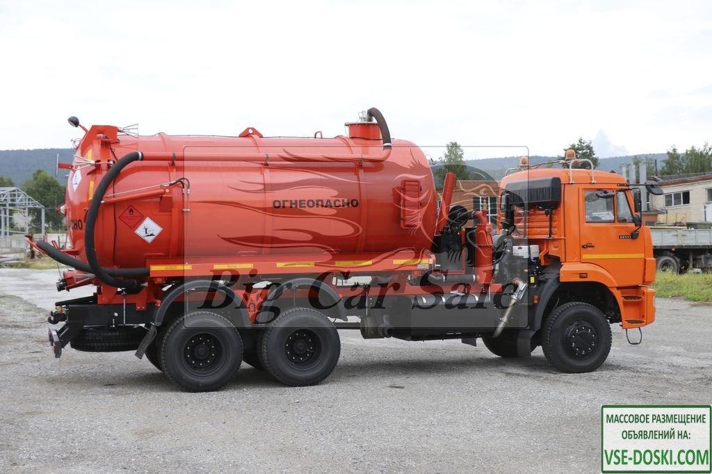Автоцистерна нефтепромысловая АКНС-15 на шасси КАМАЗ-65111