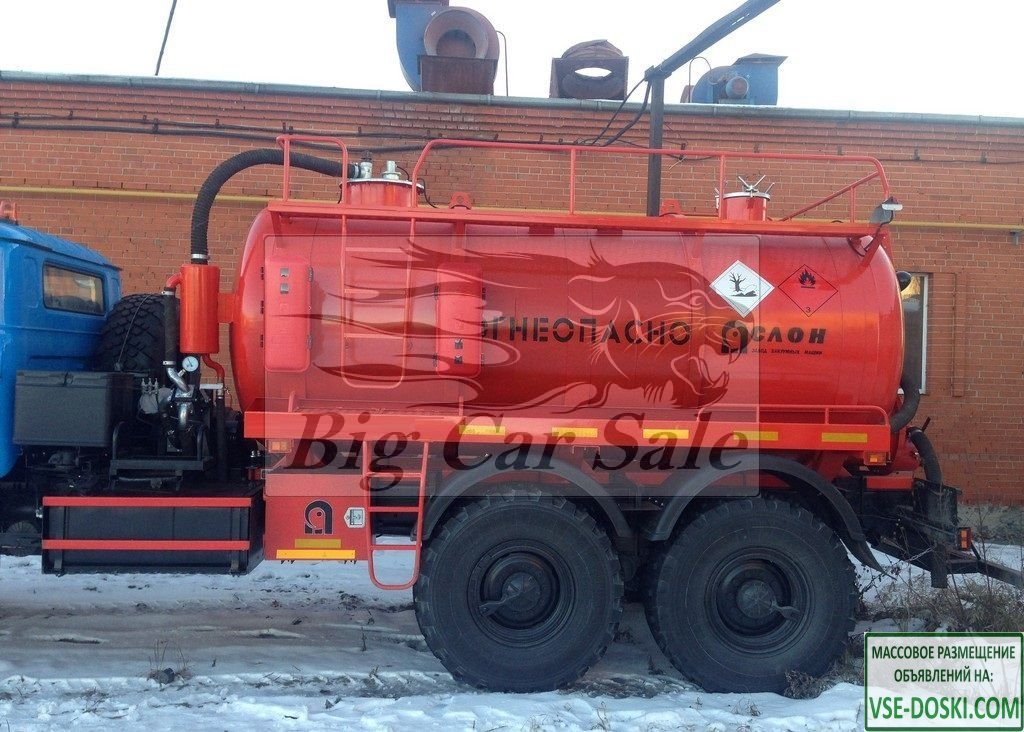 Автоцистерна АКН-10 на шасси Урал 4320